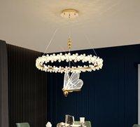 Led Chandelier Lighting Creative Bird Decor Modern Crystal Ceiling Chandeliers For Living Room Bedroom Kitchen lamparas techo