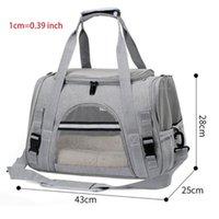 Portátil portátil plegable plegable bolso de hombro transpirable portátil portátil H05E CAT PORTADORES, Cajas