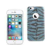 Reiko iPhone 6 / 6s brillant scintillant scintillant caisses hybride de tigre de tigre en violet / bleu / gris / rose chaude / jaune