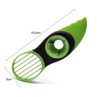 Multifunction Avocado Tool Cutter Peel Pulp Separator Kitchen Vegetable Slicer 3 In 1 Knife For Cutting Avocado Durable EWB6669