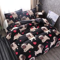 Bedding Sets Arrival Classic Puppy Pattern Set 2 3 Pcs 2021 Cute Pug Dog Lovely Style Quilt Cover And Pillowcase BE128
