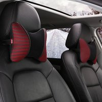 Seat Cushions 2 Packs Auto Neck Pillow Travel Car Headrest Universal Comfortable Pillows Fit For Most Cars Plush Cloth