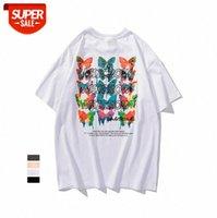 The Original Single Butterfly Stampa a maniche corte T-shirt in cotone maglietta in cotone Semplice girocollo top TEE # SP4X