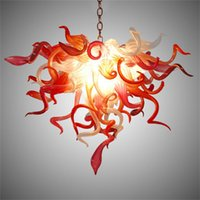 Contemporary Nordic Pendant Lights Lamp Chandelier Interior Lighting Crystal Hand Blown Glass Chandeliers Bedroom Decoration