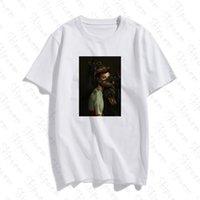 복고풍 스타일 섹시한 개 여성 티셔츠 한국어 인쇄 펑크 미학 빈티지 짧은 소매 플러스 사이즈 코튼 옷 탑