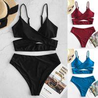 2021 Donna Lingerie Set Donne Bikini Bikini ad alta Panta di Tummy Controllo di Tummy Due pezzi Costumi da bagno Costumi da bagno Tankini