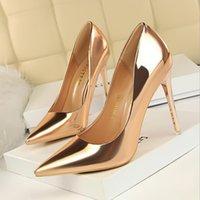 Сексуальные женские насосы Наземные носки красные нижние женские туфли двойной L накачки насос ремень накачки высокие каблуки сетки кожаный каблук каблуки 34-42 BG052-007