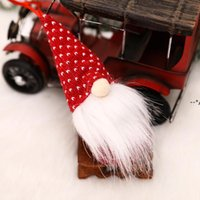 Christmas wholesale Plush Elf small Toy Faceless Forest Elderly red white Ornament Doll Xmas Tree Decorations Party decor kids gift HHD10293