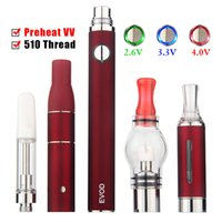 Taşınabilir DAB Yağ Kalem Kiti Sigara Kuru Herb ve Balmumu Buharlaştırıcı Evod 4in1 4 in 1 Ön ısıtma VV Pil EGO 510 Dişleştirme
