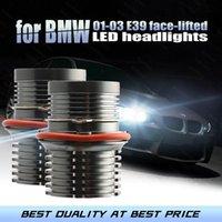 Car Headlights Day Light 3-year Warraty 6000K IP65 LED Ultra Bright For 01-03 5-series E39 Face-lifted 525i 530i 540i Angel Eyes
