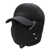 Cycling Caps & Masks TYD Trend Winter Thermal Bomber Hats Men Women Fashion Ear Protection Face Windproof Ski Cap Velvet Thicken Couple Hat