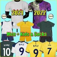 2021 22 Soccer Jersey Bergwijn Kane Son Lucas 21 2022 Spurs Dele Ndombele Lo Celso Doherty 축구 셔츠 토트넘 남성 + 키즈 키트 세트 유니폼
