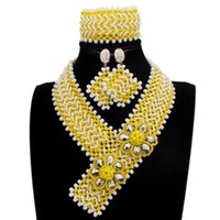 Earrings & Necklace Dudo Choker Set Yellow And White Y Design Western Jewelry Bracelet 3 Pieces 2021 5 Colors