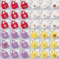 45 estilos Cocomelon JJ Bolsa de desenhos animados bolsa de lona Comelon Menino JJ Melão Totes bonitos Totes de viagem Sacos de escola bolsas de lunch Alunos de bolsa de almoço G4T1E63
