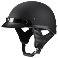 Motorcycle Helmets Matte Black Half Face Scooter Cruiser Motorbike Helmet Moto Capacetes Para Chopper