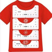 T-shirt rotonda T-shirt Allineamento Righello PVC Collare per cucire Strumento di misura Sovrazzi per bambini Donne Uomo Bianco 4 Stili Pantaloncini Manica Attrezzi Bendable H41WyCX