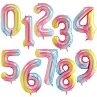 40Inch Big Foil Inflatable Birthday Balloons Helium Number Balloon 0-9 Numbers Wedding Party Decorations Shower Large Figures Globos