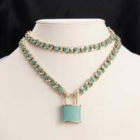 أعلى جودة المرأة قفل قلادة necklacee رسالة الترقوة سلسلة القلائد هدية للحب الأزياء والمجوهرات الملحقات