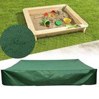 그늘 D 옥스포드 천으로 사각 방수 방수 샌드 박스 커버 Drawstring 방진 보호 녹색 내구성 20