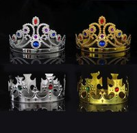 4 styles King and Queen Cosplay hairbands with crystals gold silver kids Christmas Cosplay-Crown Hair Accessory SN3123