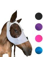 Máscara de mosca de cavalo com orelhas Conforto elasticidade suave Lycra Grip Malha Malha Stretch Bug Saver UV Proteção Phjk2106