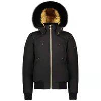 Puffer Jacket Gold Lining Label Real Fox Fur Mens Canadian MosenKnuckles Bomber Ballistic Parka Goose Down Jacket Warm Coat Extr