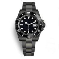 BBG fábrica automática mariner mecânico 40mm relógio safira vidro cerâmico cerâmico data 904 aço inoxidável tudo preto estilo 116610 mens orologi caixa original montres