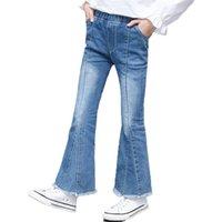 Mädchen Flare Jeans Denim Boot Cut Pants Hose Solide Kinder Teenager Frühling Herbst Kinder für Mädchen 4 6 9 12 14 Jahre 210712