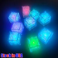 밝은 위로 얼음 큐브 깜박이 욕조에 대 한 LED 큐브 욕조 화병 결혼식 연못 클럽 바 샴페인 타워 파티 휴일 장식