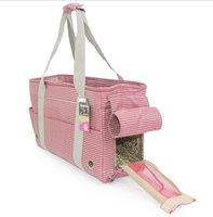 Pet Cat Carrier Bag Backpack Wearproof Respirável Portátil Outdoor Handbag para Cães Pequenos Transportadores de Moda Leve, Casa de Cadras