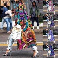 Женщины Требовое пальто Осень Весна Женские Куртки Мода Женщины Одежда Открытый Длинный Куртка Повседневная Леди Негабаритный Вершина 5XL LL1681