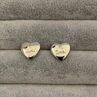 20 Tasarım Mix Çiviler Yüksek Kalite Abartılı Takı Moda Paslanmaz Çelik Altın Gümüş Gül Kaplama Kalp G Saplama Küpe Erkekler Kadınlar Için