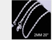 Fashion Necklace Jewelry Woman Men 925 Sterling Silver 2mm Twist Rope Chain Necklace For Pendant Charms Necklace ps1592