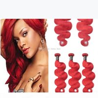Brazilian Virgin Hair Red Human Hair 3 Bundles Deals with Closure Body Wave #Red Hair Weave Bundles with 4x4 Full Lace Frontal Closure