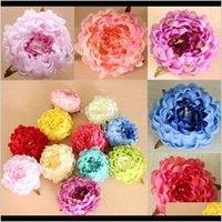 Decorative Wreaths Festive & Garden Artificial Flowers Silk Peony Heads Wedding Party Decoration Supplies Simulation Fake Flower Head Home D