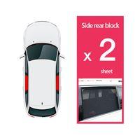 CENFUN special Car Sunshade rear window two-piece magnetic curtain sun-proof heat-insulating and sun-shielding mesh