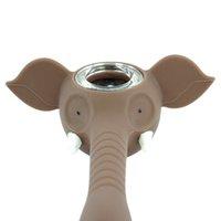 4,6 zoll Elefant Silikon Handleitungen Rauchen Bong Wasserleitungen Glasschale Silikon Wachs Öl Rigs Kräuterhaarungen Tragbare Hitzebeständige CCF6067