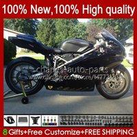 Motorrad glänzend schwarzer Karosserie für Ducati 749s 999s 749 999 2003 2004 2005 2006 Body Kit 27.78 749-999 749 999 S R 03 04 05 06 Cowling 749R 999R 2003-2006 OEM-Verkleidung