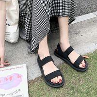 Sandals Beige Heeled Fashion Womens Shoes 2021 Espadrilles Platform All-Match Black Luxury Gladiator High Girls Low Comfort
