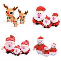 2021 de alta calidad con campanas de felpa de juguete de juguete Favor de Navidad Muñeco de nieve Santa Claus Doll Niños dando regalos Lindas decoraciones navideñas 496