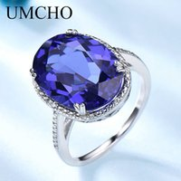UMCHO Luxury Tanzanite Gemstone Rings For Women Solid 925 Sterling Silver Fine Jewelry Female Engagement Ring Christmas Gift Y0611