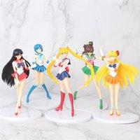 5 Stks/set Japanese Anime Cartoon Sailor Moon Action Figure 18cm Kwik Mars Jupiter Venus Pictures Kids Pop Games