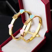 Braccialetti di modo della donna Braccialetti d'argento della signore del braccialetto dell'oro della rosa del braccialetto dell'oro del diamante del diamante dei monili del designer di lusso dell'articolo di lusso Mens delle donne con la scatola