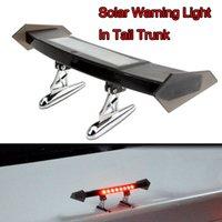 자동차 테일 트렁크 스트로브 깜박임 경고 장식 LED 비상 조명 태양 충전 램프
