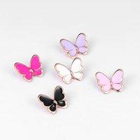 Baiduqiandu New Llegada Esmalte Mariposa Tono Oro Broche Pin para Mujeres Lady Declaración Joyería Estilo Insecto Madre Regalo Día