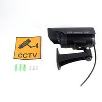 Cameras Solar Powered Fake Camera Dummy High Simulation CCTV Home Security Surveillance With Led Red Light Flashing