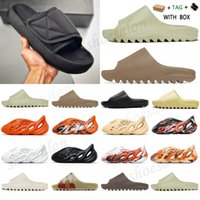 adidas Kanye West yeezy yezzy yeezys Slide Clog Slipper Sandal Foam Runner Triple Black  Fashion Slipper Women Mens Tainers bone 450 Designer Beach Sandals Slip-on Shoes