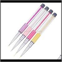 591120 mm perle acrylique ongle art brosse brosse lignes françaises rayures grille fleur peinture dessin bricolage manucure onfto pois kir47