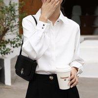 Blusas de las mujeres Camisas Alien Kitty 2021 Camisa para mujer Blusa femenina sólida Streetwear Abrigo suelto Fashion Fresh Elegant Office Lady Casual Gir