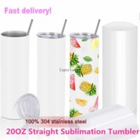 DHL!Factory Direct Sale 20oz Sublimation Tumblers Blanks 304 Stainless Steel Tapered Straight Tumblers Cups Water Bottles Coffee Mug DIY xx55